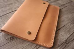 Black leather pouch for tablet case 11 x 7 inch bigger document book Pad iPad clutch personalized 29 cm x 19 cm