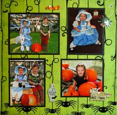 halloween scrapbook layouts | Layout: Halloween 2009