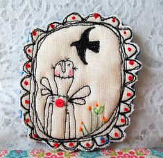 brooch by hens teeth, via Flickr