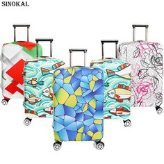 Luggage Cover Travel Suitcase Cover Dustproof Spandex Elastic Baggage  Protector for 18 20 22 24 26 a63d2f240242a