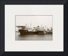 """Ship  monochrome"" by Michelangelo Design And Co., Singapore // Ship,  monochrome // Imagekind.com -- Buy stunning fine art prints, framed prints and canvas prints directly from independent working artists and photographers."
