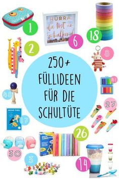 "Suchergebnisse für ""schulanfang"" filling ideas for the school bag / sugar bag for the beginning of school or for school."