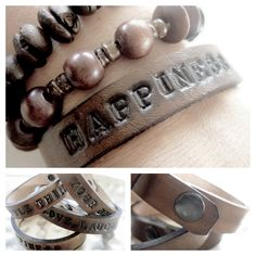 Nice bracelets with message...! http://www.tierlantijn.net