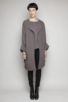 Black Crane Lab Coat (Charcoal)