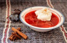 Fűszeres, hideg szilvaleves habgaluskával | Ottis főz