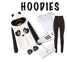 """lazy da hoods"" by amanda-pixley-sanchez ❤ liked on Polyvore featuring RE/DONE, adidas, Balmain and Witch Worldwide"