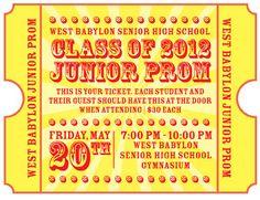 Jr. Prom Invitation