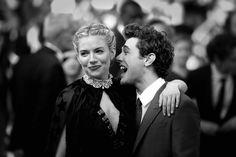So Cute! | B + W photo of Sienna Miller and Xavier Dolan | 2015 Cannes Film Festival