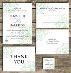 PRINTABLE Wedding Invitation Suite DIY  Mint by mycharmingprints                                                                                                                                                                                 More