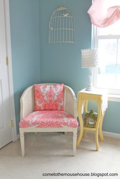 """Remember forever ago when I said I was working on Ainsley's """"shabby chic"""" bedroom? (see the Before pictures HERE)  Other than finding pictures to put inside the frames, the room is finally finished! Phew. View from the doorway I made the canopy over her bed a few years ago and it is still holding …"""