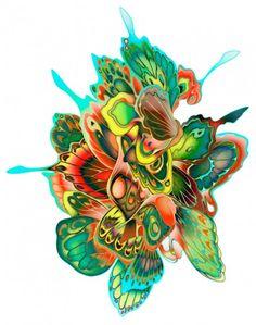 Butterfly Pattern | Super Punch: Butterfly swarm by James Jean