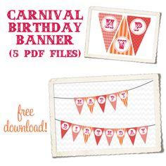 Carnival Birthday Banner (girl)