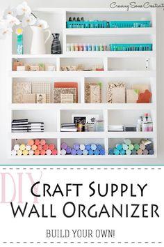 Craft Room Storage, Wall Storage, Craft Organization, Craft Rooms, Storage Ideas, Shelving Ideas, Organizing Tips, Paper Storage, Office Wall Organization