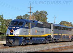 Amtrak California F59PHI #2012 leads a Capitol Corridor train through Martinez.