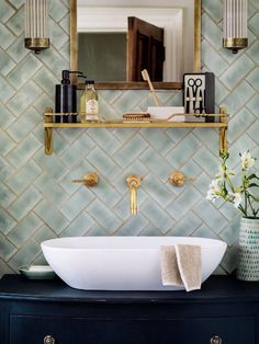 Serene bathroom. Compliments of homes and gardens uk