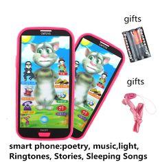 Bebé de Aprendizaje Estudio Pantalla Táctil de Teléfono Móvil de la Música Infantil Juguetes Educativos Electrónicos Juguetes Para Niños Regalos De Navidad Personalizadas