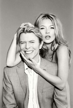 Kate Moss and Bowie