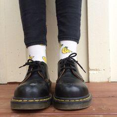 Image via We Heart It #bananas #docs #fashion #socks #style #summer #ootd