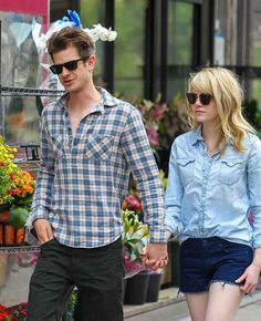 They make sense together ��014 look how cool and casual they are! | 21 Reasons Why Andrew Garfield And Emma Stone Were The Cutest Couple Of 2013