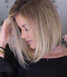félhosszú frizurák egyenes hajból - vállig érő bubifrizura