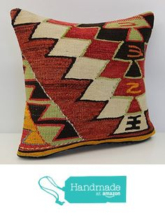 Handmade kilim pillow cover 16x16 inch (40x40 cm) Boho kilim pillow cover Home Decor Natural Pillow cover Chevron Kilim Cushion Cover from Kilimwarehouse https://www.amazon.com/dp/B06XDB464R/ref=hnd_sw_r_pi_dp_RRPUybCTZWEYX #handmadeatamazon