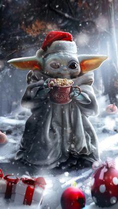 Christmas Baby Yoda is the character of Star Wars. Star Wars Fan Art, Star Wars Meme, Yoda Funny, Yoda Meme, Star Wars Baby, Yoda Images, Funny Images, Art Cyberpunk, Cyberpunk Fashion