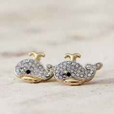 Moby Sparkling Stud Earrings, Sweet Bohemian Jewelry