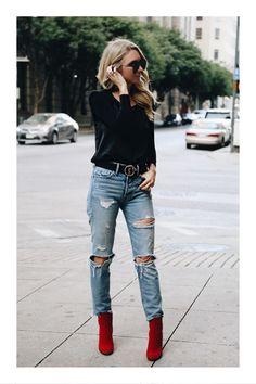 bf7cdc5c0b 23 imágenes increíbles de outfits con zapatos rojos