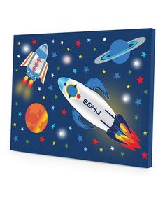Love this Outer Space LED Gallery-Wrapped Canvas by Idea Nuova on #zulily! #zulilyfinds