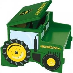 You don't have to live out on the farm to be a John Deere fan. And if your child wants to have that distinctive green around his room, that's...