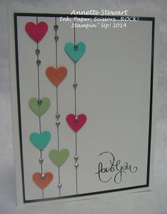 Can t forget Can t forget Annika Kolberg stempelfreude Stampin up February 23 2014 Simply draw lines using a ruler and punch out nbsp hellip Valentine for kids cards simple Valentine Love Cards, Printable Valentine, Karten Diy, Paper Cards, Cute Cards, Creative Cards, Anniversary Cards, Greeting Cards Handmade, Scrapbook Cards