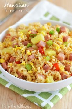 Hawaiian Fried Rice ... sounds interesting. The kiddos *might* like it. We'll have to see ...