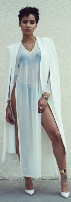 Caped // Dress: Bellen Brand , Cape: Nasty Gal , Shoes: Louboutin // Fashion Look by Tanaya Henry
