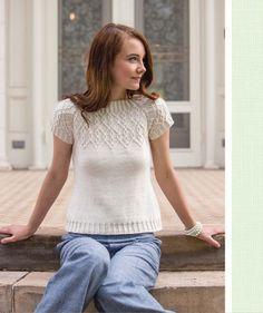 Вязание спицами пуловер с коротким рукавом. Связать пуловер с короткими рукавами | Вязание для всей семьи