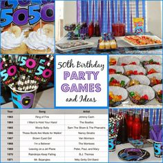 50th birthday party games and ideas from playpartypin.com #party #50th #birthday #games