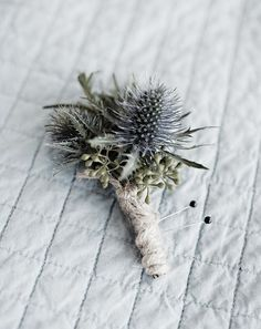 Love the twine wrapped boutonniere