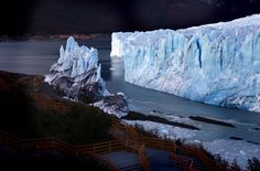 The leading edge of the Perito Moreno glacier located in the Los Glaciares National Park in southern Argentina ruptured and collapsed today.