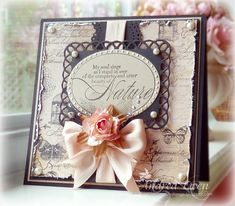 So elegantly beautiful. #cards #card_making #scrapbooking