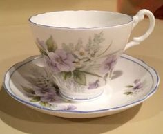 Regency Lavender Pansy Tea Cup and Saucer