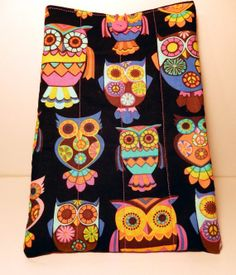 Owl Quilted EReader Case by PatchworkByPaula on Etsy, $15.00