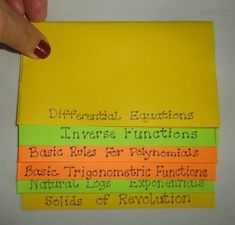 The Calculus Review Foldable (Free download!) | Jean Adams, TeachersPayTeachers.com