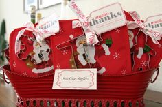 Cookie cutter holiday stocking stuffers...or a favor for a cookie exchange party
