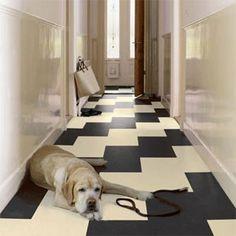 checkered Kitchen Flooring cork -