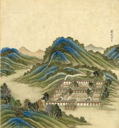 Untitled-28    Imperial Chinese garden at ge ho Euhl in Tartary  Colored woodblock print    The George Peabody Library  Call No.: 915.1 C539C QUARTO