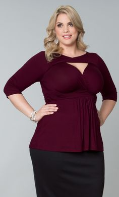 41ac4db0e0c2a Check out the deal on Athena Twist Top at Kiyonna Clothing Flattering  Outfits
