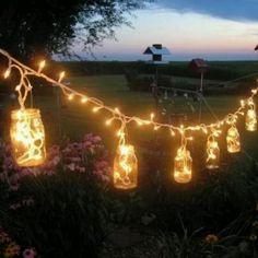 Backyard lights fun