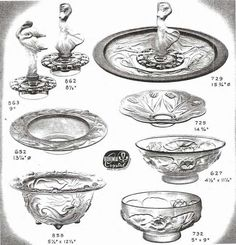 Weil Ceramics & Glass Inc. Catalog For Barolac Sculpture Glass - Czech Bohemian Glass That Is Often Found With Fake or Forged R. Lalique France Signatures: Page 12 Art Nouveau, Art Deco, Pressed Glass, Vintage Pottery, Glass Collection, Vintage Glassware, Artist At Work, Czech Glass