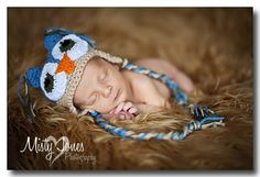 Owl Hat  Newborn  Great photo prop by cjboutiques on Etsy, $22.00