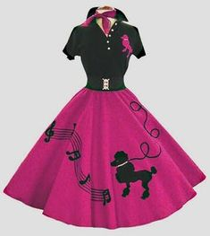 80s Party Outfits, 50s Outfits, Pretty Outfits, Fashion Outfits, Rock And Roll Dresses, 50s Rock And Roll, 50s Dresses, Vintage Dresses, Poodle Skirt Outfit
