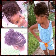 Natural hair style kids www.styleseat.com/shamonadixon